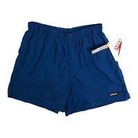 Vintage Speedo 90's Blue Swim Trunks Mens Shorts Mesh Lined L DEADSTOCK