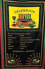 Quilt Fabric African Happy Kwanzaa Celebrate Large Panel 2 Y x 46""