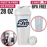 Protein Shaker Bottle Cup Shake Mixer Gym Powder Blender Fitness Workout Sport