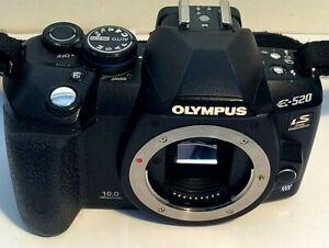 Olympus E-520 10.0MP Digital SLR Camera - Black (Body only)