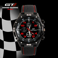 Montre Sport Racing Quartz Grand touring GT Rouge homme Silicone PROMO