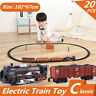 Electric Plastic Classic Toy Train Kit Track Education Model Kids Christmas