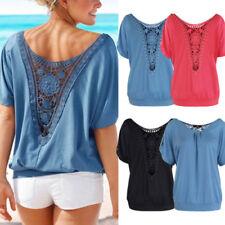 Damenblusen, - tops & -shirts aus Baumwolle mit Spitze in Größe XL