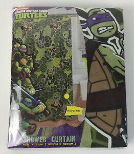 Teenage Mutant Ninja Turtles TMNT Microfiber Shower Curtain for Kids 72 X 72
