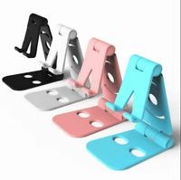 Universal Cell Phone Tablet Desktop Stand Desk Holder Mount Cradle Plastic