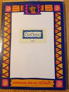 Vtg Hallmark Disney The Lion King Stationery 40 Sheets NIP!! Rare! Simba