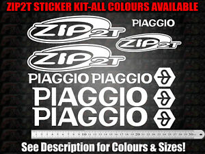 Piaggio ZIP 2T Decals / Stickers ALL colours available! see 2nd photo