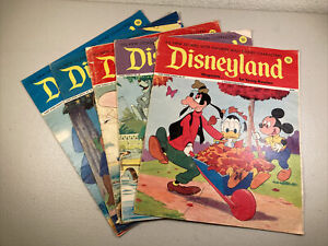 Lot Of 5 1972 Disneyland Magazines For Young Readers
