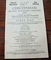 CHELTENHAM RACE CARD NOVEMBER 15TH, 1968 - FIRST DAY OF THE MACKESON MEETING