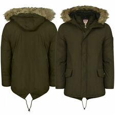 Cotton Funnel Neck Long Coats & Jackets for Men