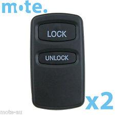 2 x Mitsubishi Remote Car Key 2 Button Shell/Case/Enclosure Lancer Outlander