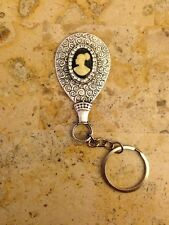 RARE! NICE AFRICAN AMERICAN LADY CAMEO EMBELLISHED KEYCHAIN!