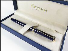 WATERMAN PREFACE ROYAL BLUE   & 18K GOLD MEDIUM PT FOUNTAIN PEN NEW IN BOX *