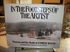 """""""In The Footsteps of The Artist The World of Andrew Wyeth"""" 1st Ed. HC/DJ"""
