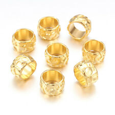 20pcs Gold Plated Tibetan Alloy Metal Beads Large Hole Rondelle Spacers 13x8mm