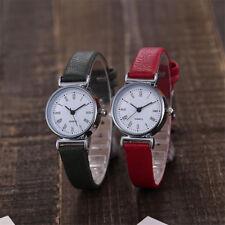 Rome Fashion Small Dial Women Quartz Watch Leather Strap Ladies Slim Wristwatch