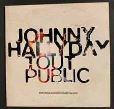 """Cd promo Hallyday  rare bon etat """"johnny halyday tout public"""""""
