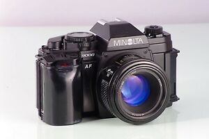 Minolta 9000 Af Maxxum + Af 50mm f1.7 Classik-Cut Autofocus Excellent Garantie
