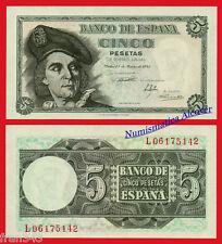 ESPAÑA SPAIN 5 Pesetas 1948 Juan Sebastian Elcano Pick 136a SC /  UNC