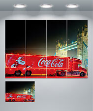 Coca Cola Christmas Lorry Truck Coke Xmas Giant Wall Art Poster Print