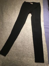 Elizabeth And James Noir Leggings Pantalon Extra Long Taille M 10 12 14 L35''