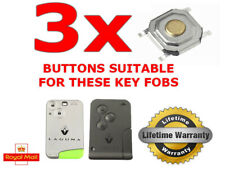 3 X SWITCH BUTTON FOR RENAULT LAGUNA ESPACE CLIO SMART KEY FOB REPAIR