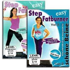 2 Fitness DVD Set - Step Aerobic Fatburner Vol.1+2 - Steppbrett Stepper - Neu
