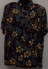 Carolina Colours Plus Size 20W/40 Rayon Hawaiian Print Blouse Short Sleeve F107