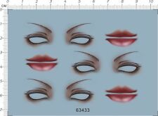 Orbit mouth eyebrow eye shadow Model Kit Water Decal