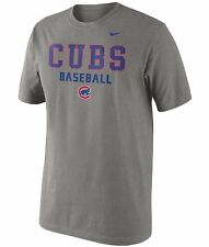 Chicago Cubs MLB Baseball NIKE Away L Practice 1.5 Heathered T-Shirt $26