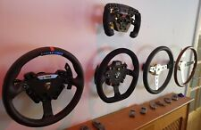 RaceSims.uk Fanatec compatible wheel holder wall or frame mount storage upgrade