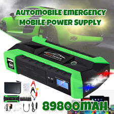 89800mAh 12V LCD 4 USB Car Jump Starter Pack Booster Charger Battery Power