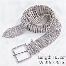 Women Dress Strap Crystal Diamond Belt Gold Silver Waist Chain Bridal Wedding