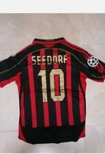 MAGLIA MILAN SEEDORF 10 STAG 06 07 CHAMPIONS JERSEY RETRO VINTAGE SERIE A