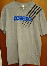 KOBELCO Japan lrg T shirt Kobe Steel iron ore logo tee Conexpo Chuo-Ku