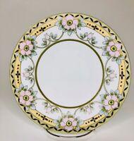 Antique Plate Nippon Porcelain Moriage Floral Flower Hand Painted  Japan A105