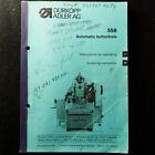Durkopp Adler 558 Keyhole Automatic Buttonhole Instruction Manual