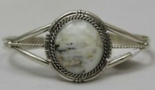 Navajo Indian Bracelet 50% off White Buffalo Turquoise Cuff Sterling Silver Dave