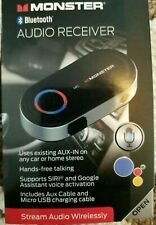 BRAND NEW IN BOX Monster Bluetooth Audio Receiver FREE FAST SHIPPING