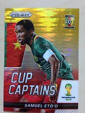 2014 Panini Prizm FIFA World Cup SAMUEL ETO'O Cup Captains Yellow Red #26