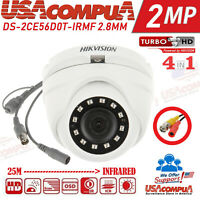 Hikvision 2MP CAMERA DS-2CE56D0T-IRMF HDTurboHD 2.8mm Full HD 1080P IR 20M