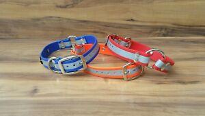 Reflective dog collar, Swimming dog collar, Waterproof Dog Collar, BioThane