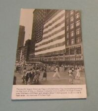 1950 J.L. Hudson Company Detroit Michigan Largest American Flag RPPC Postcard