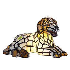 "TIFFANY-Lampe""Liegender Hund Glas NEU Licht Beleuchtung Tierfreunde Hundefreunde"