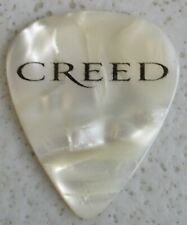 2010 Creed Tour Mark Tremonti White Pearl Guitar Pick Excellent Condition #052