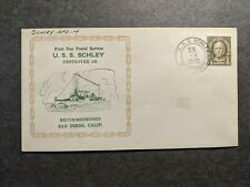 USS SCHLEY DD-103 Naval Cover 1940 RECOMMISSIONED Cachet