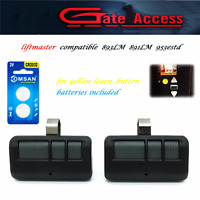 2 For 893lm Chamberlain Liftmaster Craftsman Garage Door Opener Remote Control