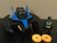 IMAGINEXT BATMAN PLANE BATWING JET LOT FIGURE DC SUPER FRIENDS FISHER PRICE