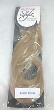 """Hair Extension 16"""" STRAIGHT Ginger Blonde Clip-ons with book and clip"""