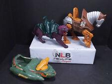 Set of 3 Used Vintage He-man Figurines